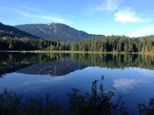 Morning run around Lost Lake, Whistler