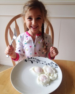 She asked for 5 eggs; we settled on 3.